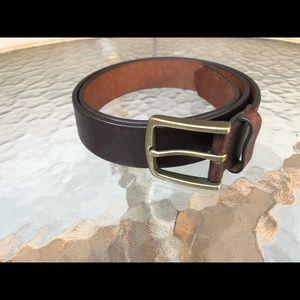 Vintage Brown GAP Leather Belt, made USA, 36